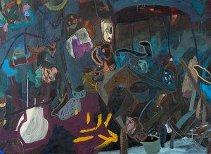גלריה מאיה / כל הבתים- תערוכת יחיד לשני וייס, אור שחור- קיר אמן לטליה ישראלי